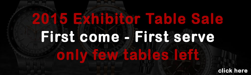 2015 Exhibitor's Table Sale